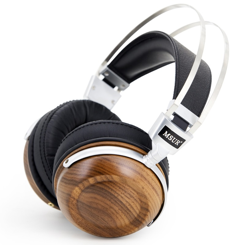 100% Original MSUR N550 HiFi Headphones Wooden Metal Headphone Headset Earphone With Beryllium Alloy Driver With Protein Leather new original msur n650 wooden metal hifi music dj headphone headset earphone with beryllium alloy driver portein leather