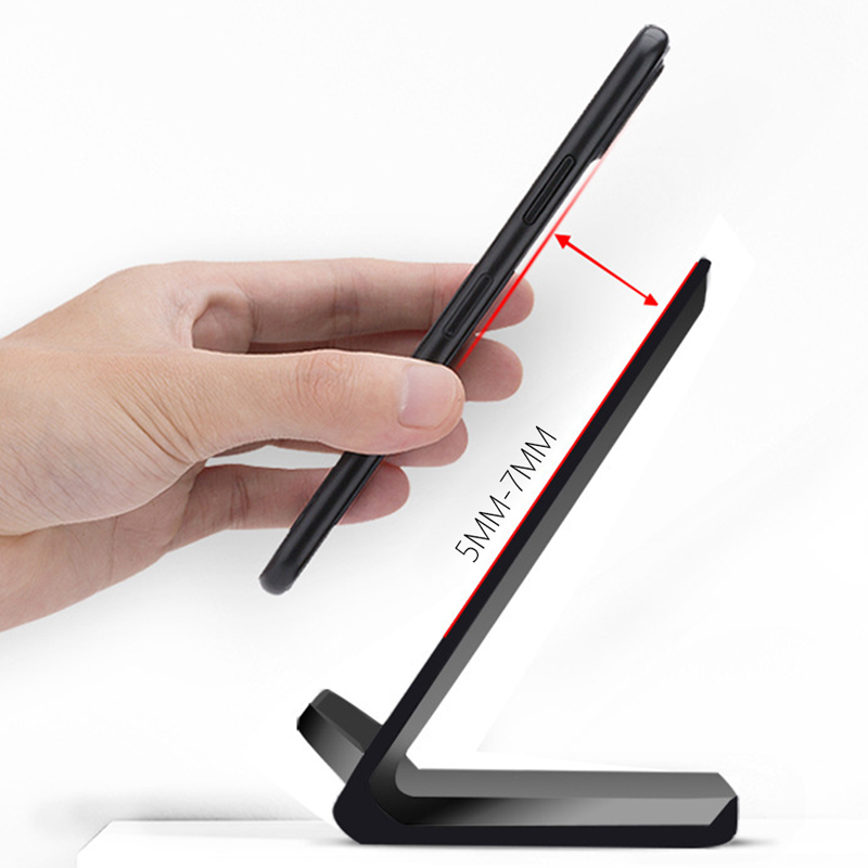 Wireless Charger for Samsung S6 S7 Edge S8 S9 Plus Note 5 8 Fast Charging Dock Stand Desk for iPhone X 8 QI Wireless Chargers in Mobile Phone Chargers from Cellphones Telecommunications