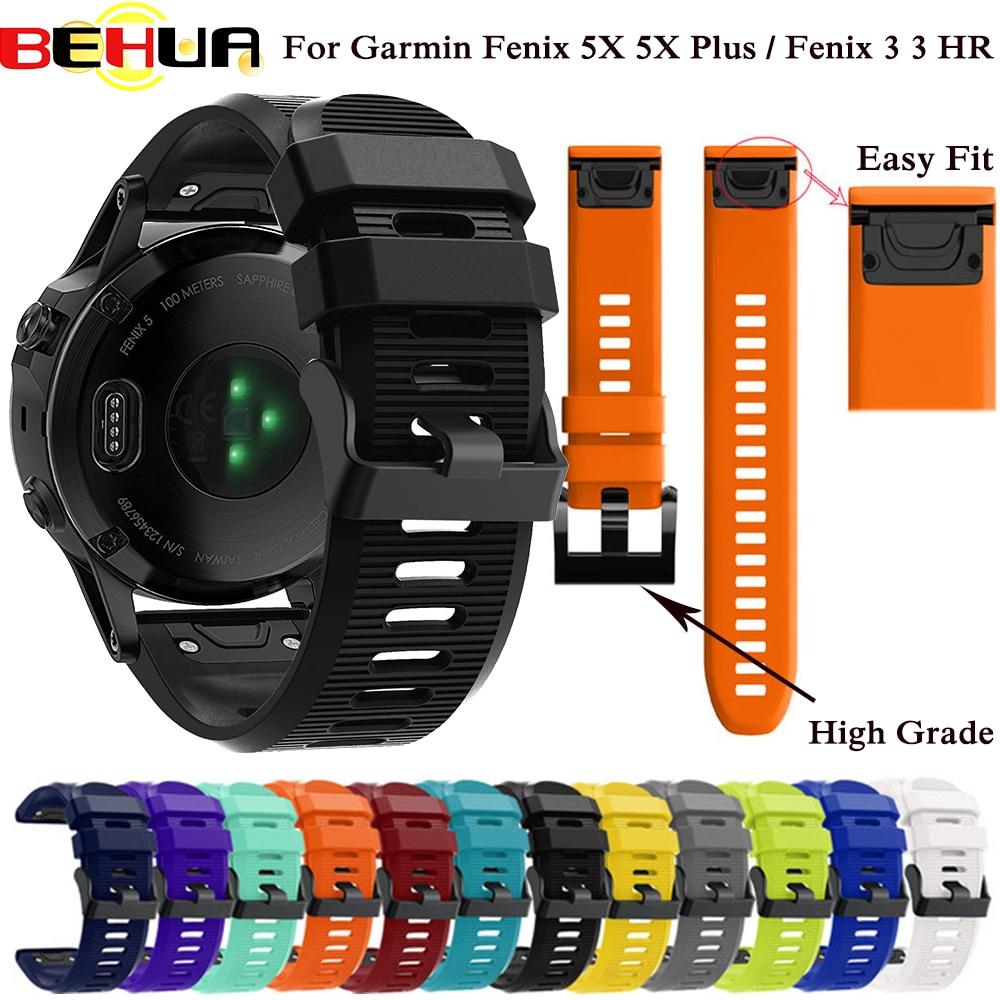 26mm 22mm 20mm Watchband For Garmin Fenix 5X 5 5S Plus 3 3 HR Forerunner 935 945 Watch Strap Quick Release Easy Fit Wrist Band