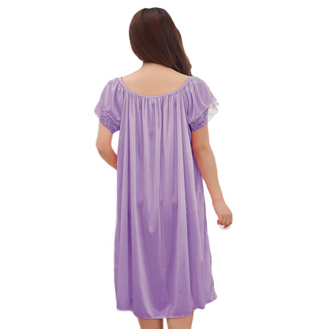 placeholder Maternity clothes sleepwear nightdress long silk nightgowns  pajamas for pregnant women nightclothes maternal pajama plus size adfd02d8f2f5