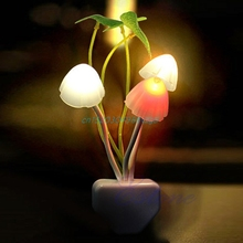 Night Light Colorful Romantic LED Mushroom DreamBed Lamp Home Illumination #H028#