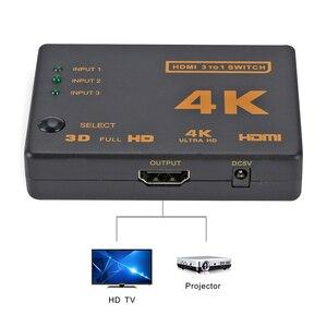 Image 4 - Rovtop Mini HDMI Switcher 4K HD1080P 3 5 Cổng HDMI Switch Phím Chọn Bộ Chia Với Trung Tâm Điều Khiển Từ Xa IR Cho HDTV DVD TV Box Z2