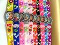 Free Shipping 10pcs 3D Cartoon Lovely Kids Girls Boys Children Students Barbie Quartz Wrist Watch Very Popular