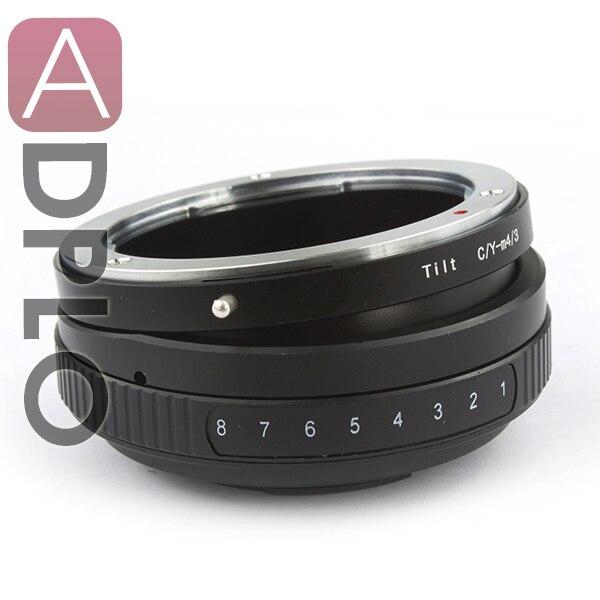 Anel adaptador de lente Tilt anel adaptador de montagem para Contax C / Y Lens para Micro 4/3 M43 GH1 EPL3 GF6 G5 OM-D E-M1 E-M5 Camera