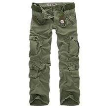 Горячая Распродажа мужские брюки карго камуфляжные брюки военные брюки для мужчин 7 видов цветов