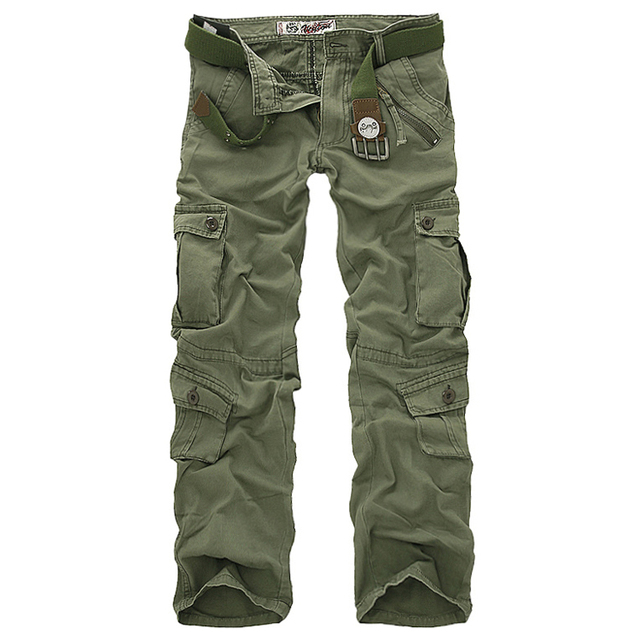 Hot sale free shipping men cargo pants camouflage  trousers military pants 7 colors