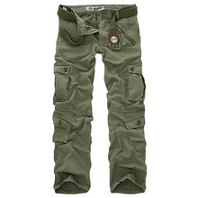 Hot sale free shipping men cargo pants camouflage trousers military pants for man 7 colors(China)