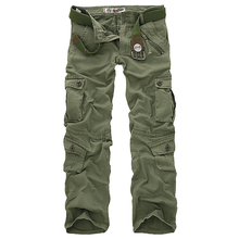 Hot sale free shipping men cargo pants camouflage trousers m