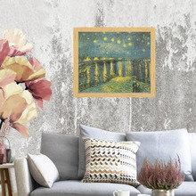 Starry Night Over the Rhone River Poster
