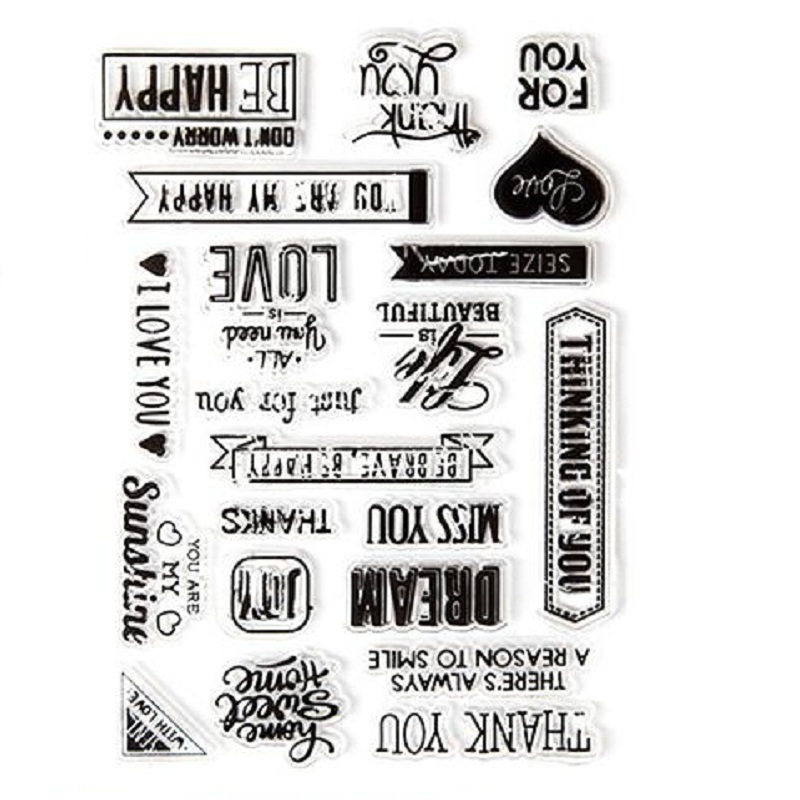 Word Art Clear Stamp Eco-friendly Transparent Stamp For DIY Scrapbooking/Card Making/ Decoration Supplies