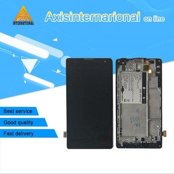Axisinternational עבור 5.0 ''Huawei Honor 3C H30-U10 H30-L02 H30-L01 H30-T00 G740 LCD מסך תצוגה + מגע digitizer עם מסגרת
