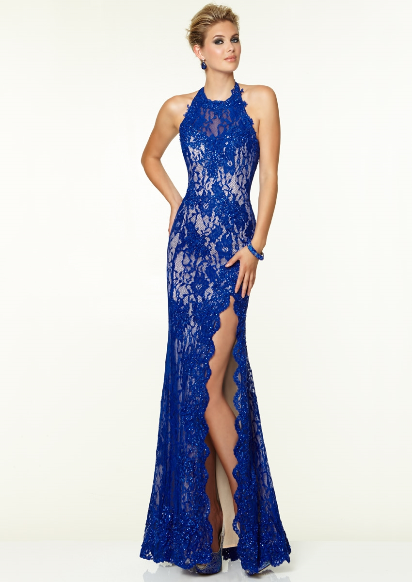 Images of Royal Blue Evening Dress - Reikian