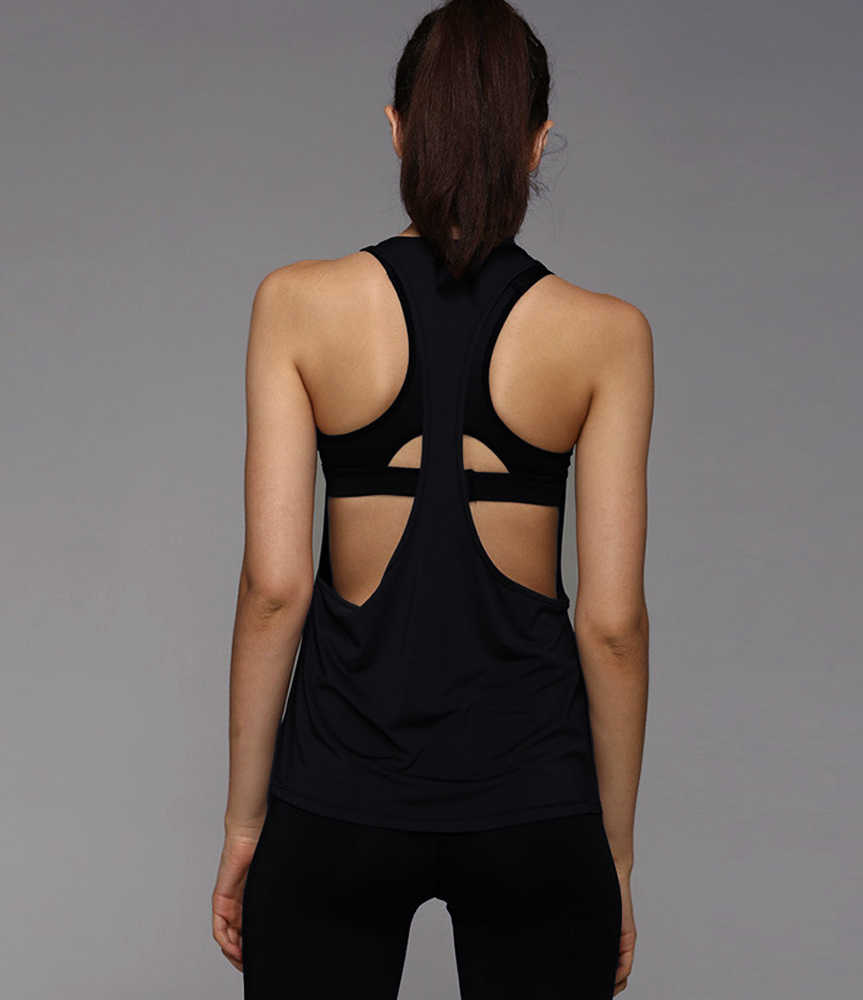 6b1e42881dcbb 2019 New Summer Vest Sexy Fitness Tank Tops Women Quick Dry Loose Sleeveless  Vest Singlet T