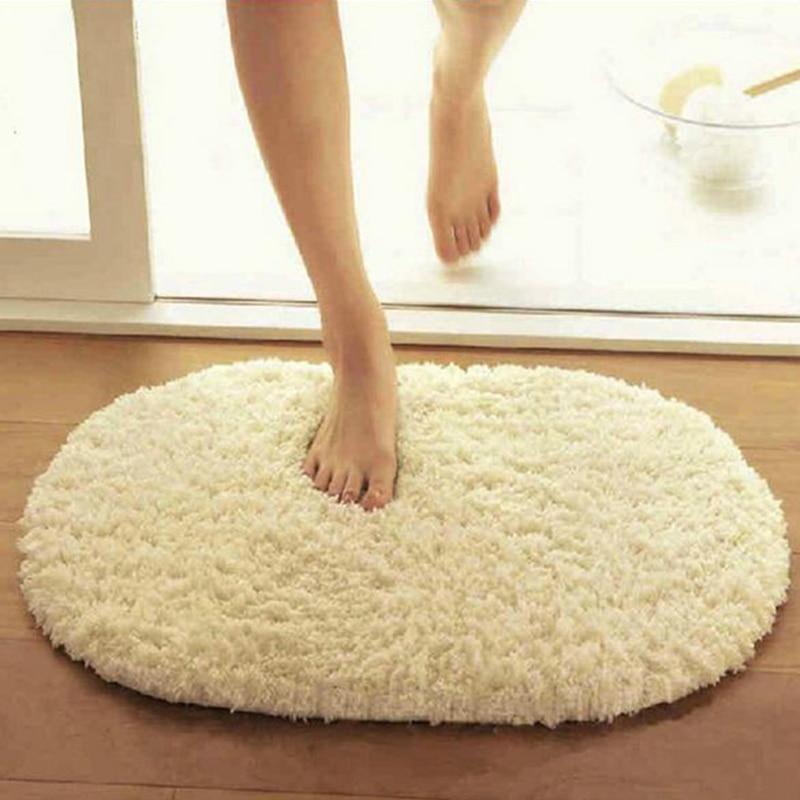 40x60cm Bathroom Carpets Absorbent Soft Memory Foam Doormat Floor Rugs Oval Non Slip Bath Mats Plain Rug Tapete Banheiro In Mat From Home Garden On