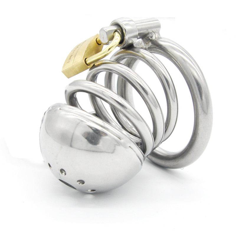 Stainless Steel Male Chastity Device,Cock Cages,Virginity Lock,Chastity Belt,Penis Ring,Penis Lock,Fetish Bdsm Sex Toys Men
