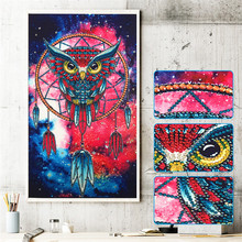 Special Shape Diamond Painting Phantom Flower Combination Modern Pattern DIY 5D Partial Drill Cross Stitch Kit Crystal Artwork