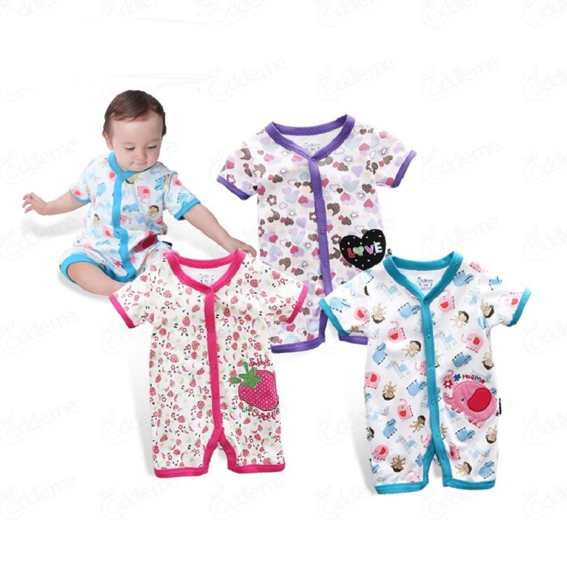 2017 Summer Style Baby Rompers Baby Girls Clothes Cotton Cute Cartoon Romper Newborn Jumpsuits Ropa Bebes Baby Boy Clothes