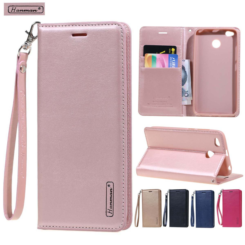 Hanman Leather Wallet flip cover case For Xiaomi MI 5X 6 MIX 2 2S 8 SE 6X A1 A2 Redmi Note 4 4X 5 Plus Pro 5A Y1 case