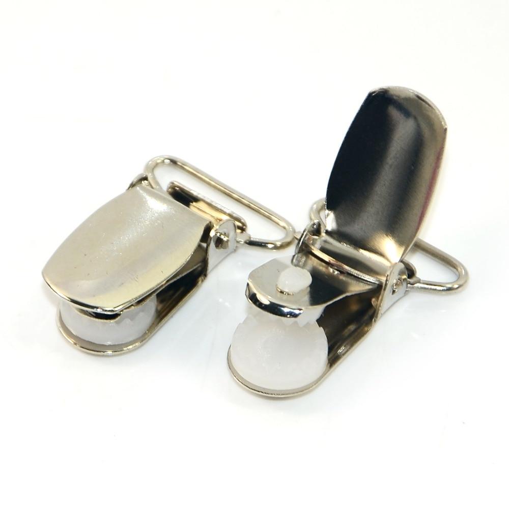 10 pcs Y7 Paci chupeta clipes de Metal Suspender fita artesanato gancho suporte de plástico Insert