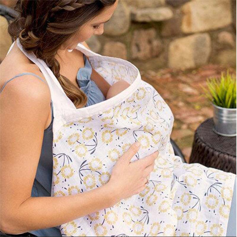 Ins Cotton Maternity Nursing Pads Covers Mother Breastfeeding Cover Baby Outdoor Apron Shawl Breathable Feeding Cover Towel