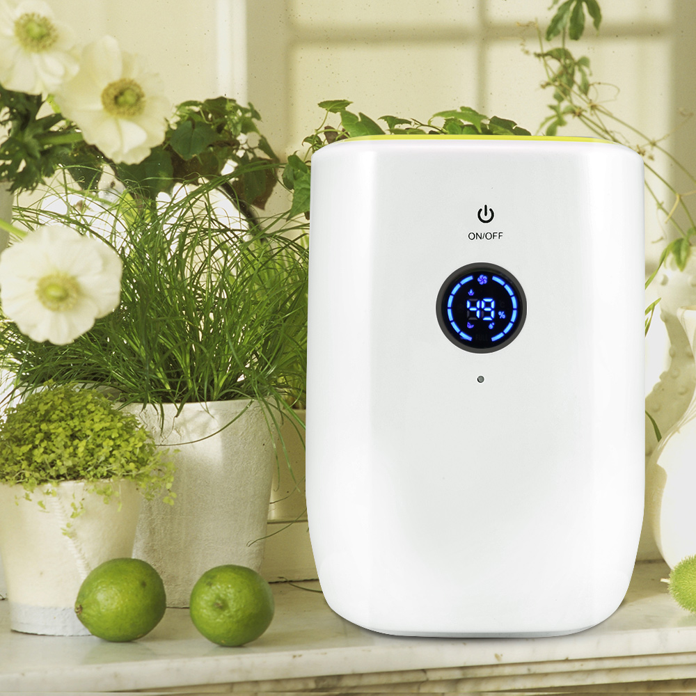 800ML Electric Air Dehumidifier for Home Portable Moisture Absorbing Air Dryer with Auto off and LED