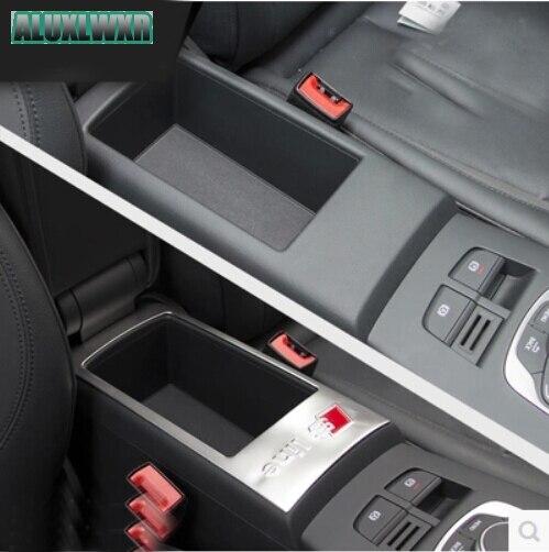 Armrest box panel cover trim chrome stainless steel sequin s line logo FIT for audi A3 2013-2016 hatchback sedan car-styling