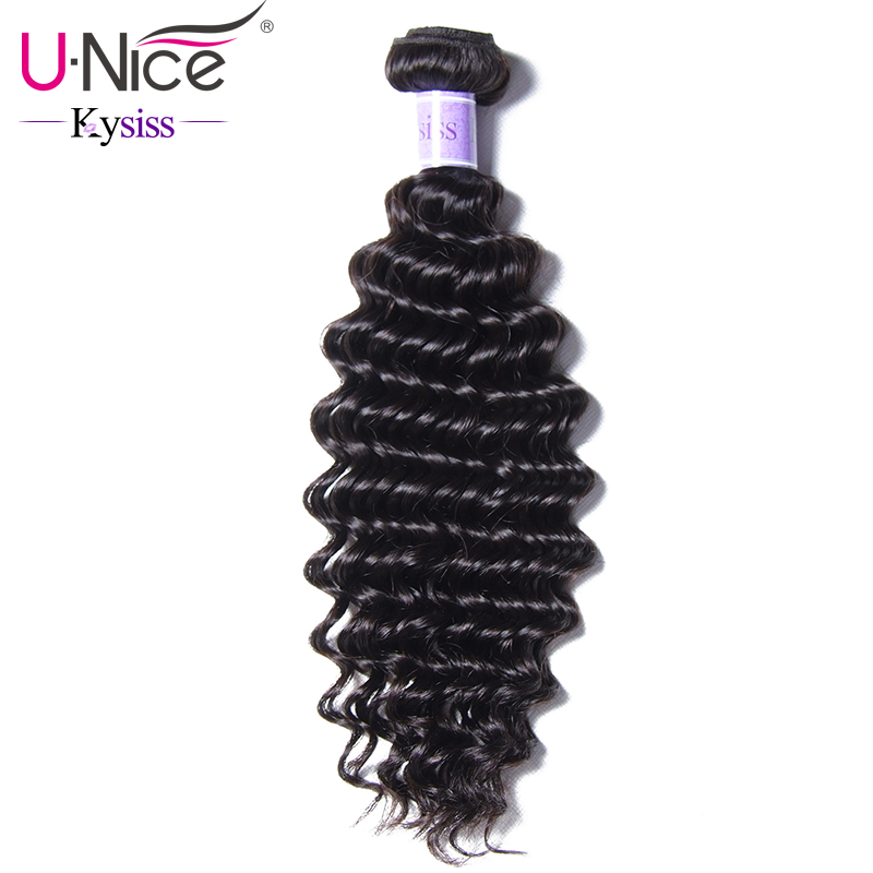 UNice Hair Kysiss Series 8A Peruvian Deep Wave 1 Bundle 12 26 Inch Unprocessed Virgin Hair