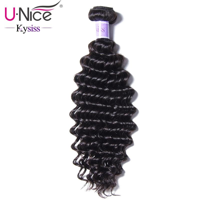 UNice Hair Kysiss Series 8A Peruvian Deep Wave 1 Bundle 12 26 Inch Unprocessed Virgin Hair