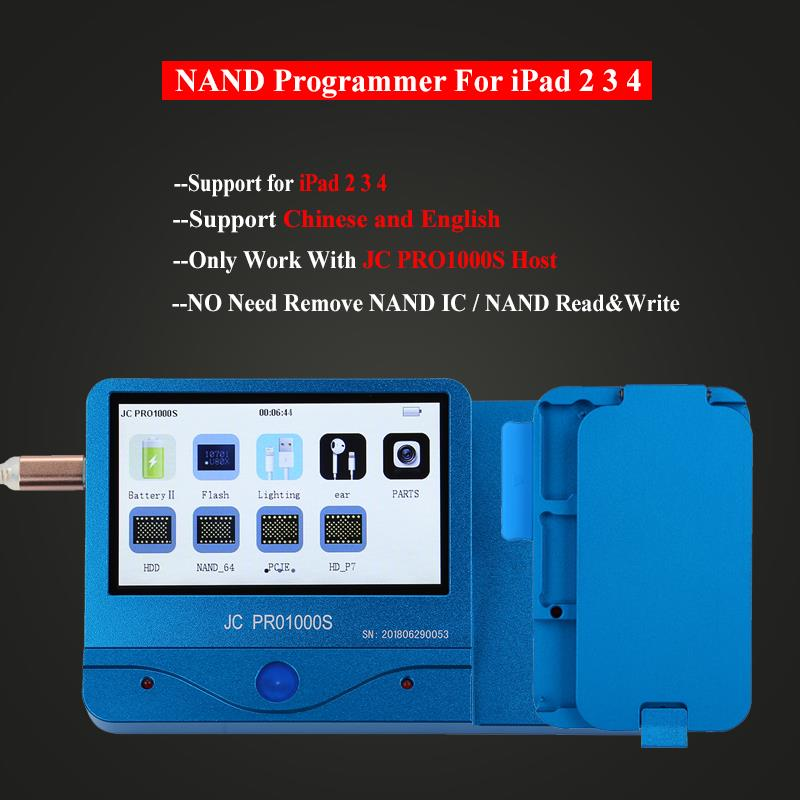 JC Pro1000S Multi Functional NAND Programmer For iCloud Repair Tool Non Removal Read Write Adapter for