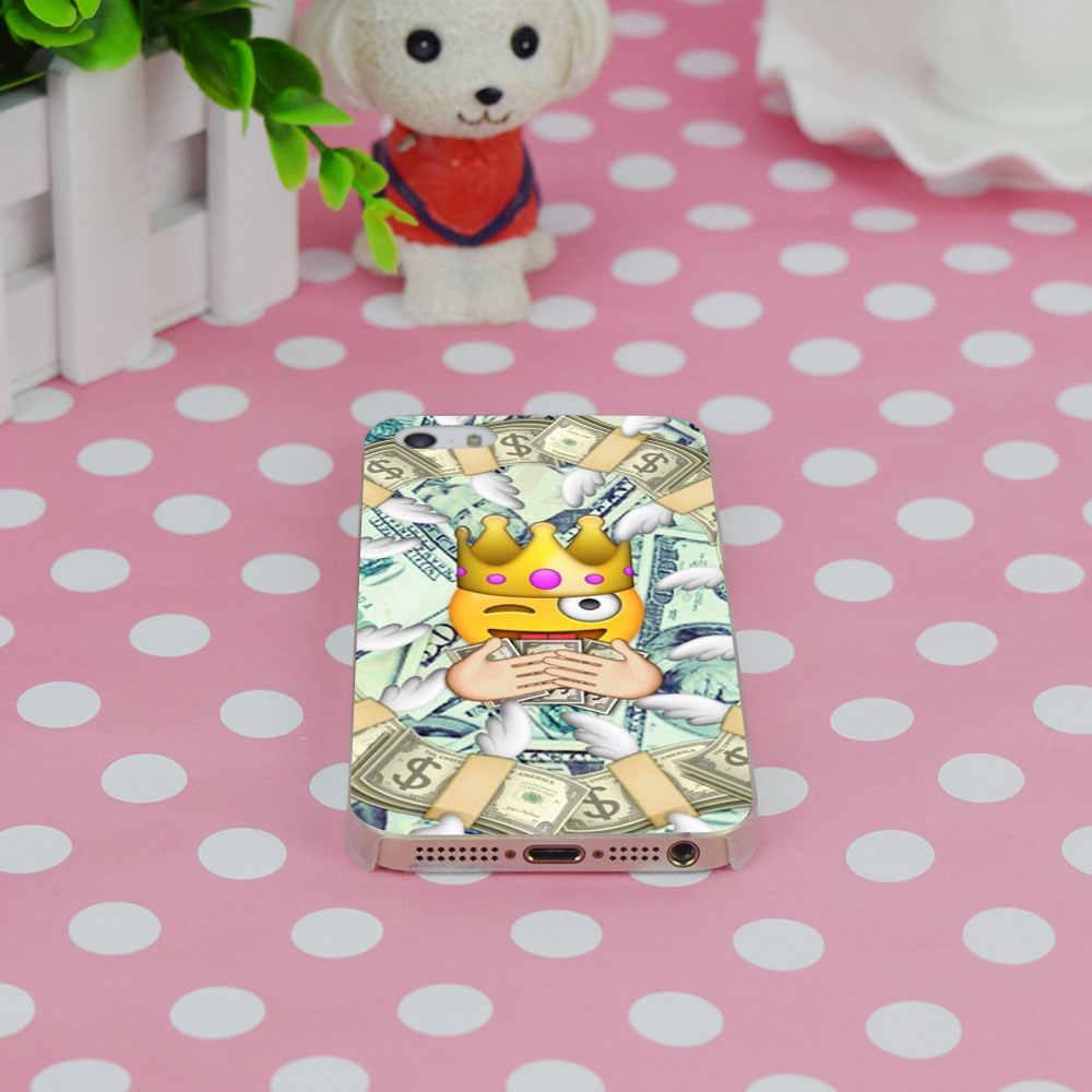 G444 Симпатичные Emoji милые обезьяны лицо прозрачный плотный тонкий чехол Крышка для Apple iPhone XR XS Max 4 4S 5 5S SE 5C 6 6 S 7 8 X плюс
