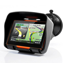 Waterproof 4.3 Inch Motorcycle GPS Navigation System With 4GB Internal Memory Bluetooth Map