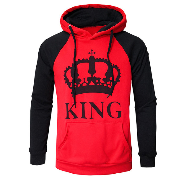 trend 2018 women men clothes hoodie lovers couple clothes womens mens unisex hoodies new autumn winter king queen sweatshirt