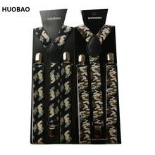 2017 NEW 2.5cm Wide Adjustment Fashion Camouflage Womens Mens  Clip-on Braces Y-back Elastic Suspender