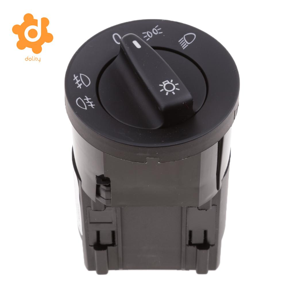 dolity Car Headlight Fog Driving Lamp Switch Knob for VW Bora Golf Polo Sharan