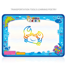 50x34cm Baby Kids Add Water with Magic Pen Doodle Painting Picture Water Drawing Play Mat in Drawing Toys Board Gift Christmas
