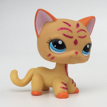 pet shop lps toys short hair cat Yellow kitty 2118 Child Gift