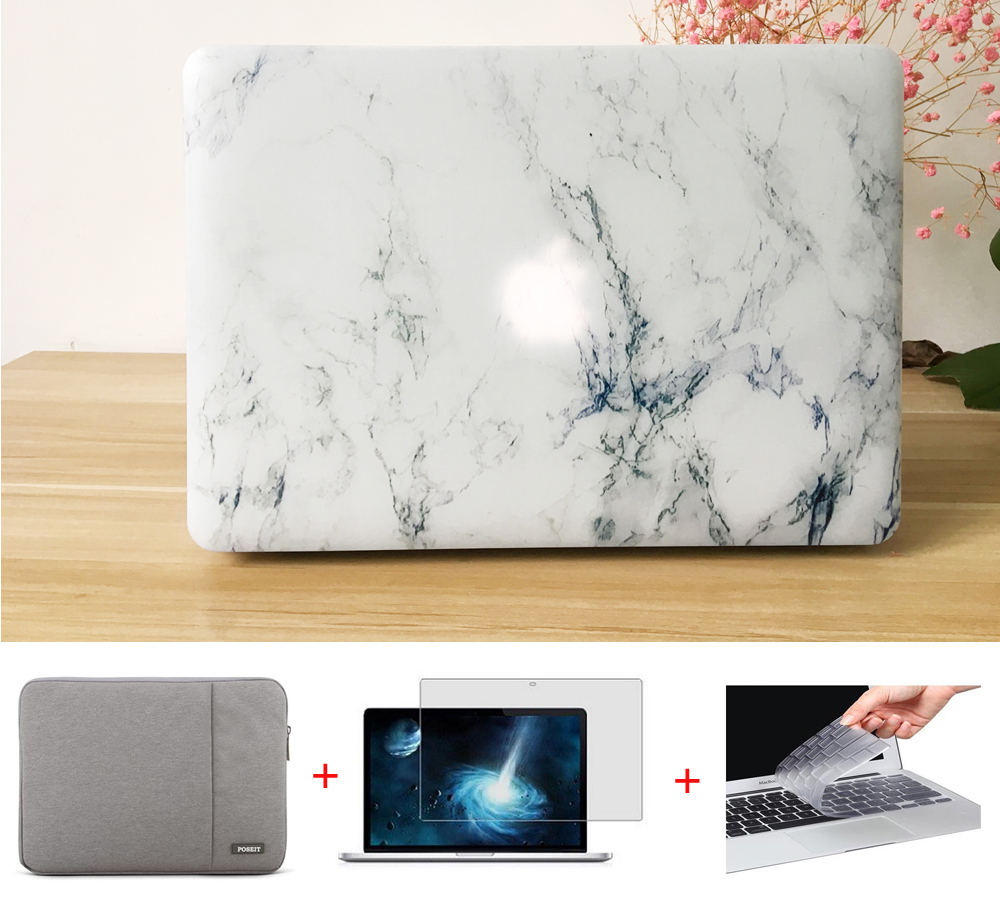 все цены на POSEIT laptop sleeve case for MacBook Air 11 13 inch 2016 marble pattern Hard Case Cover for MAC Pro 13.3 15.4'' with Retina 12 онлайн