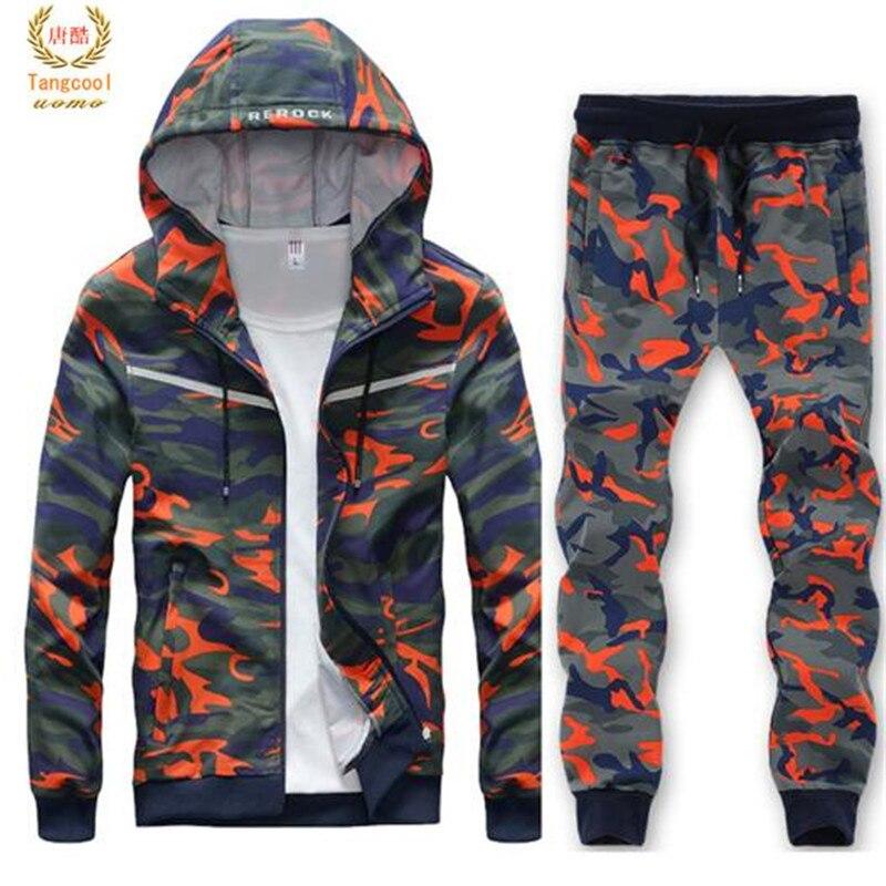2019 hommes grande taille L-8XL sweat costume Cool Style Hip Hop Camouflage lâche vêtements hommes Sportsuit coupe-vent survêtement