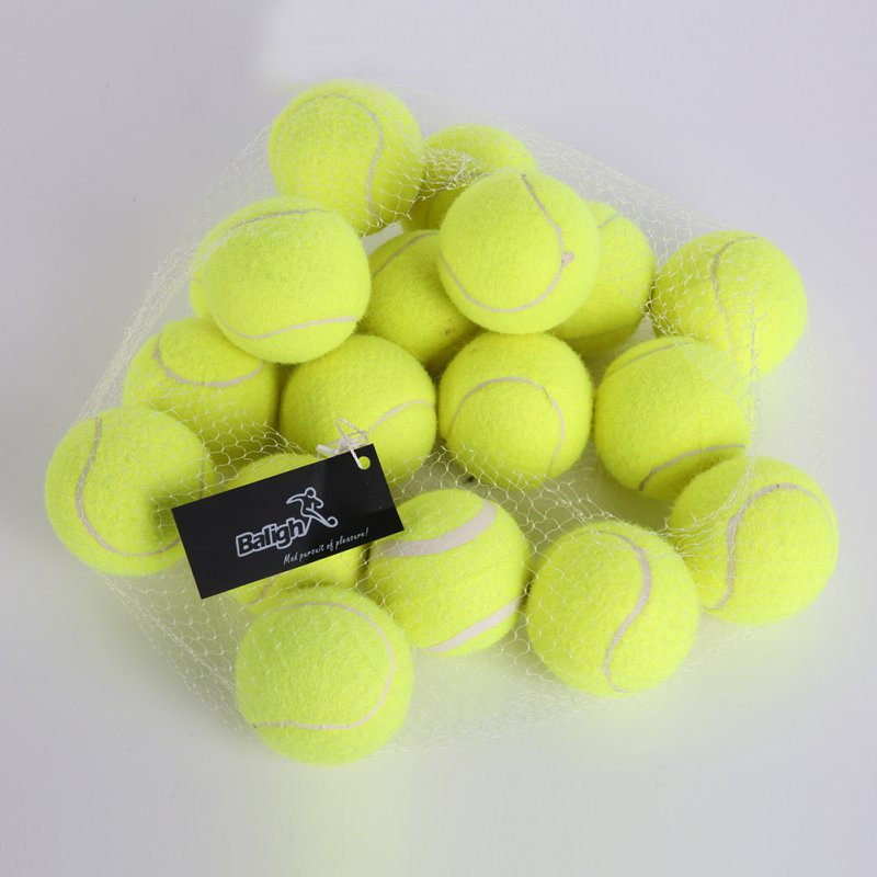 18pcs/set Yellow Tennis Balls Sports Tournament 2017 Outdoor Fun Cricket Beach Dog High Quality Sport Training Free USA Shipping