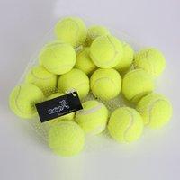 18pcs/set Yellow Tennis Balls Sports Tournament 2017 Outdoor Fun Cricket Beach Dog High Quality Sport Training Free USA Shipping