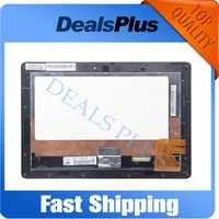 Reemplazo de pantalla táctil LCD + montaje de marco para transformador ASUS EeePad TF300 TF300TG TF300T 5158N wifi negro