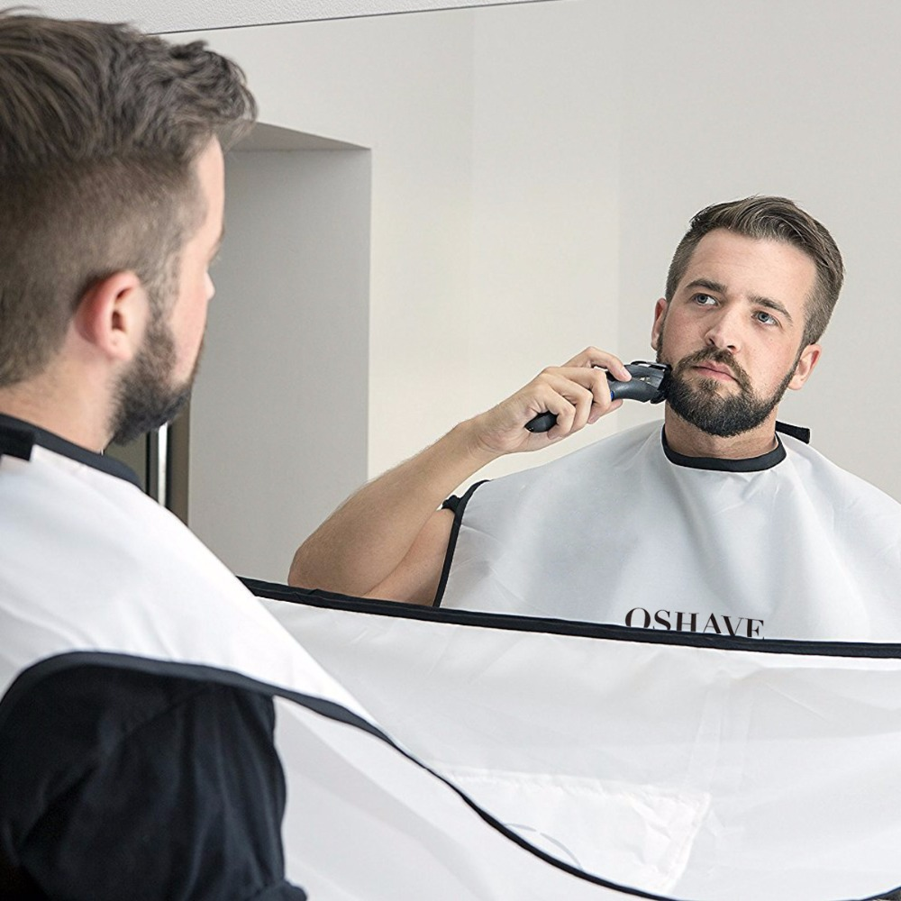 qshave beard and moustache catcher apron cape bib for shave with suction cups. Black Bedroom Furniture Sets. Home Design Ideas