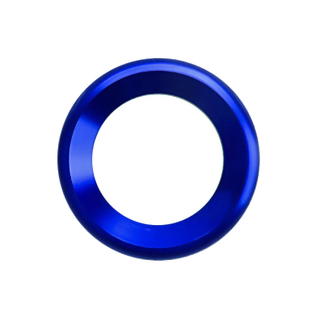 Украшения круг планки громкий динамик анодированный алюминиевый двери автомобиля аудио кольца динамиков планки для Honda Civic - Название цвета: Blue