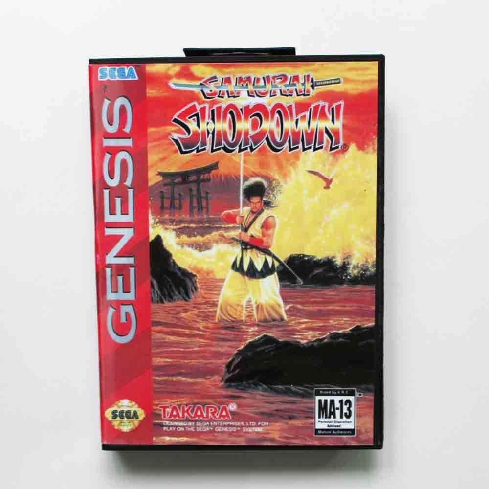 Samurai Showdown Game Cartridge 16 bit MD Game Card With Retail Box For Sega Mega Drive For Genesis