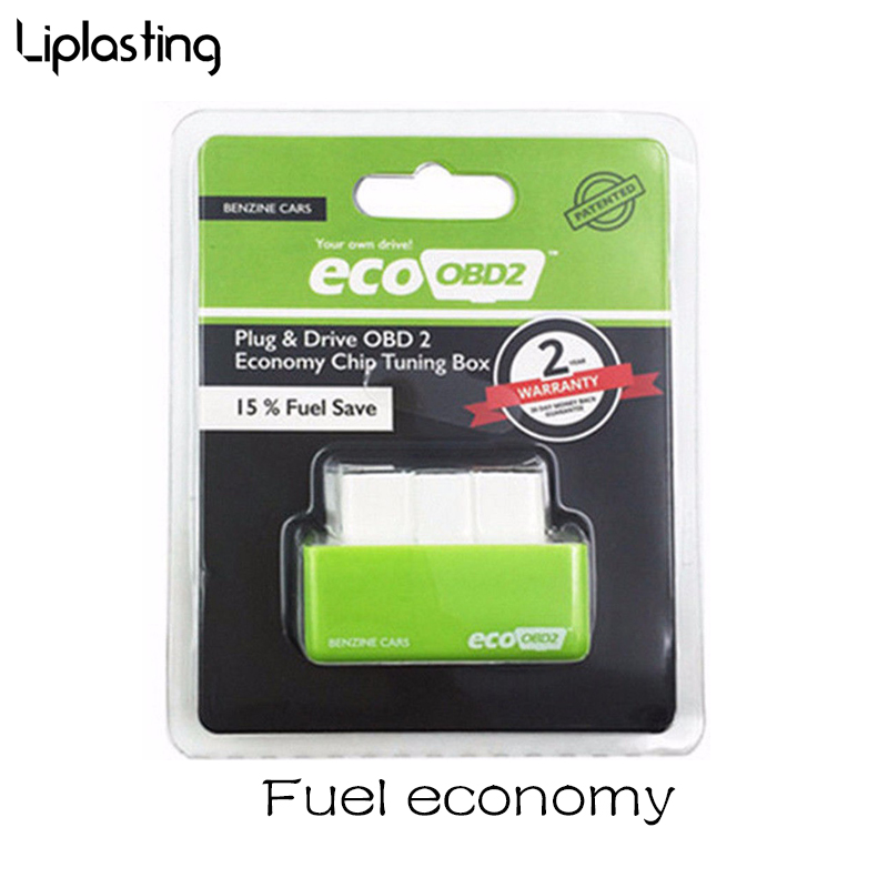 New EcoOBD2 Economy Chip Tuning Box OBD Car Fuel Saver Eco OBD2 For Benzine/Diesel Cars Fuel Saving 15% Plug /Drive