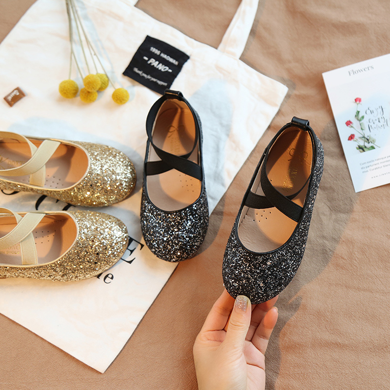 Children's Performance Shoes Kids Princess Shoes Children's Leather  Shoes For Girls With Fashion Glitter Spring Autumn SMG16