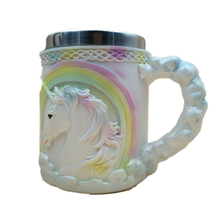 3D Stainless Steel Inner Layer and Silicone Outer Layer Unicorn Pattern Mug