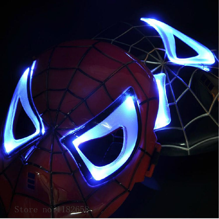 New Design Kids Novelty Cartoon Toy Spider Man Flashing Mask Led Mask Flashing Toy COS Play Party Goods Kids Gift