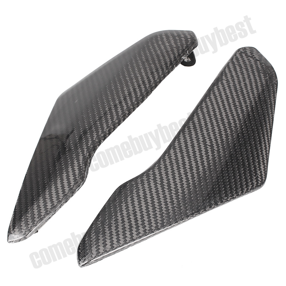 For Suzuki GSXR600 GSXR750 GSXR 600 750 K4 Tank Side Cover Panels Fairing 2004 2005 2PCS Carbon Fiber Motorcycle Parts motorcycle fairing kit for suzuki gsxr600 k4 k5 2004 2005 black yellow gsxr 600 gsx r 750 04 05 fairings ty38
