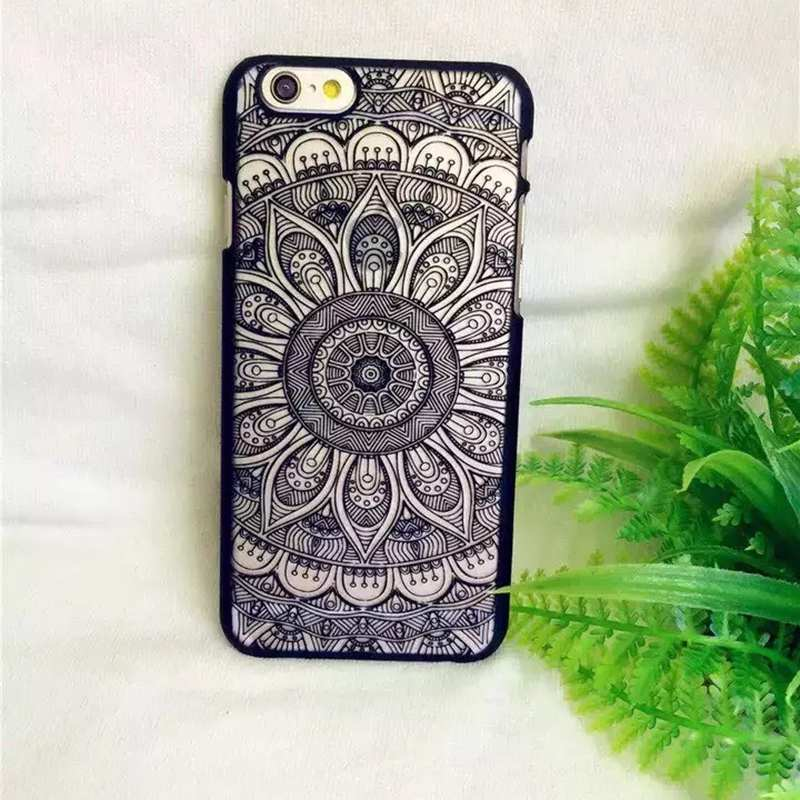 Damask Hard PC Phone Cases Vintage Palace Flower Pattern Cover For iPhone 5 5S SE 6 6S 6/6SPlus C1968